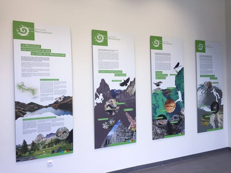 panneaux d'exposition pour le Pôle Montagne
