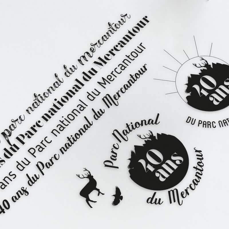 Recherches typographiques pour le Parc national du Mercantour