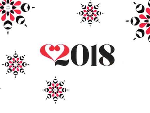 voeux graphique 2018 de la graphiste Hélène titre