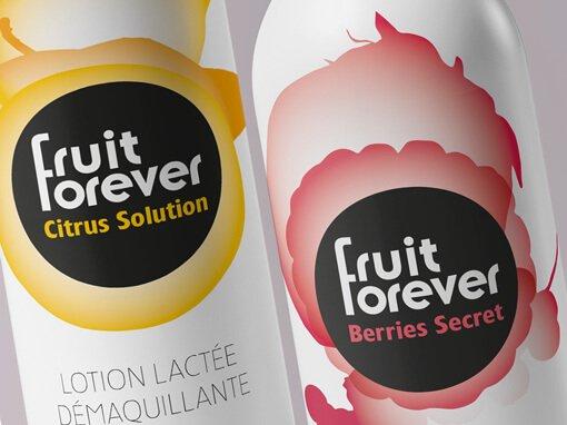 La gamme Fruit Forever soigne sa ligne graphique
