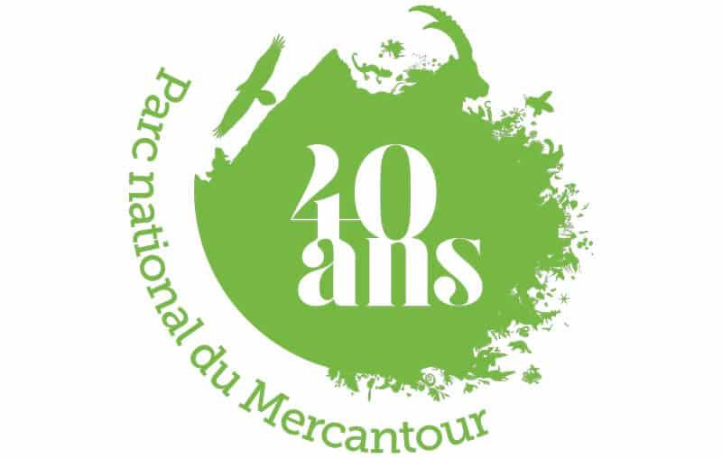 logo des 40 ans du Parc national du Mercantour