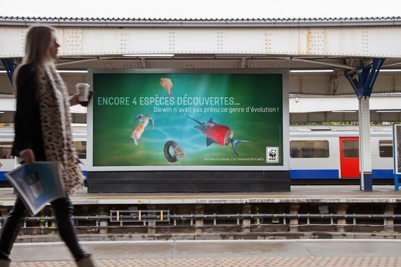 Proposition campagne WWF France pour un affichage métro