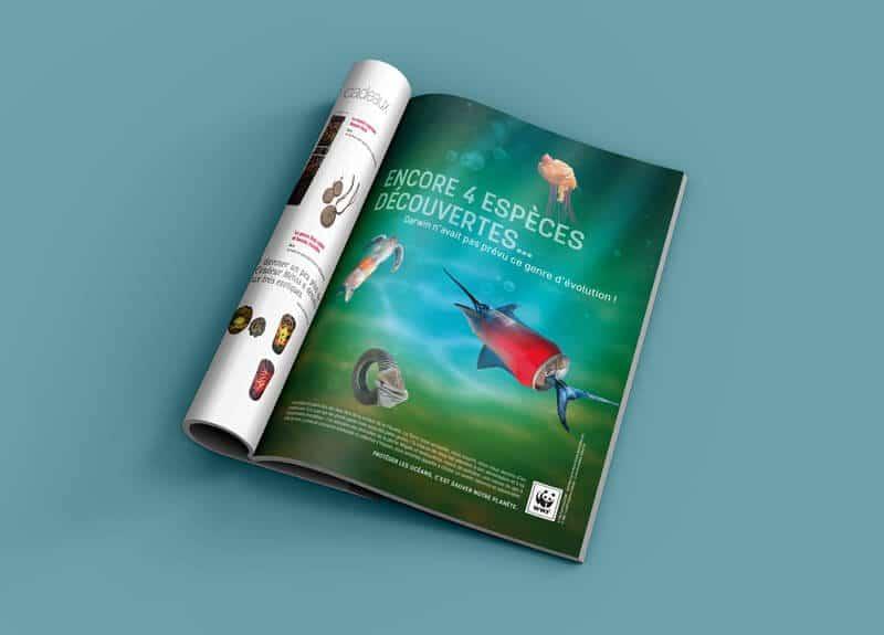 Proposition d'annonce presse publicitaire WWF France