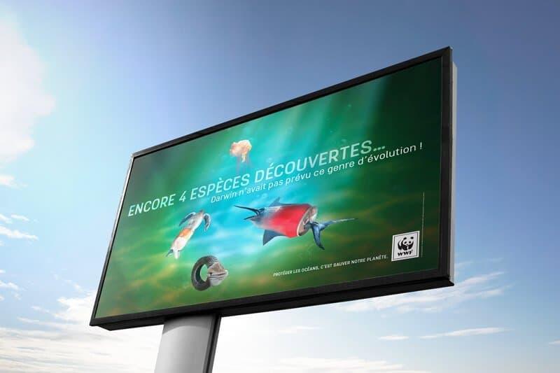 Proposition d'affiche campagne publicitaire WWF France